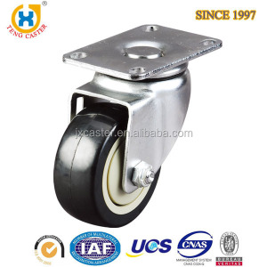 "PU Small Wheel 3"" Plate Caster with Square Top External"