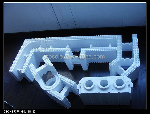 Icf mould insulation concrete foam wall system eps mould for Icf foam
