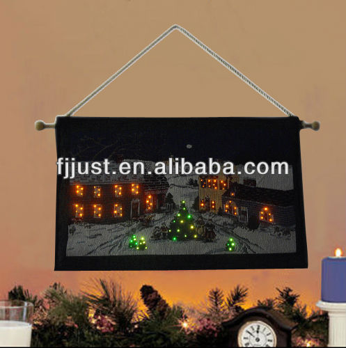 light up Holiday christmas wall tapestry for decor