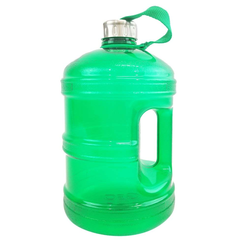 ff31e6f011d Get Quotations · 1 2 Gallon or 1 Gallon BPA FREE Reusable Plastic Drinking  Wide Mouth Water Bottle
