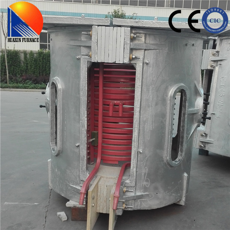 1.5T Medium Frequency Aluminum Melting Pot Induction Furnace From Shandong