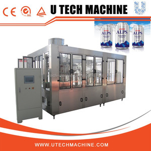 Carbonated Drinks Production Line / Beverage Canning Machine
