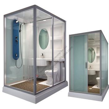 all in one acrylic glass prefab unit bathroom modular shower cabin toilet pods buy unit. Black Bedroom Furniture Sets. Home Design Ideas