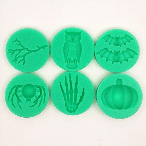 Bakeware Accessories Silicone Branch Owl Bat Spider Skeleton Hand Pumpkin Fondant Cake Mold
