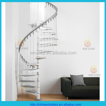 Inside metal white spray paint spiral stairs for small spaces with metal handrail buy inside - Staircase small space paint ...