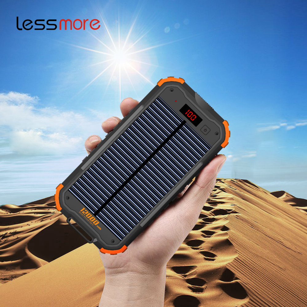 Best 잘 팔리는 products 2018 in usa unique 휴대용 mobile usb solar charger power bank 12000