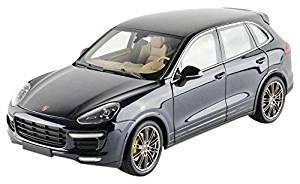 2014 Porsche Cayenne Turbo S Blue Metallic Limited Edition to 504pcs 1/18 by Minichamps 110064001