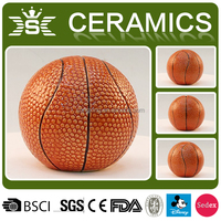 Custom ceramic vivid basketball for kid piggy bank