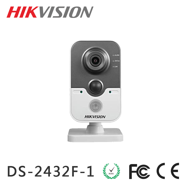 DS-2CD2432F-I Hikvision H.264/MJPEG ip camera wifi 3MP IR Cube Network Camera Up to 10m IR