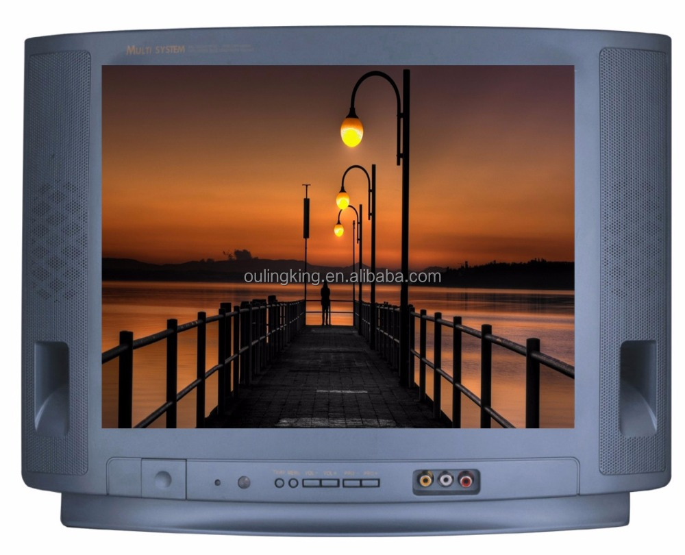 A grade ultra slim crt tv low price 21 inch crt tv kit