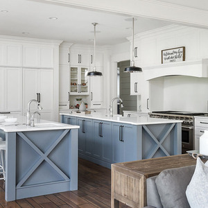 Integrated RTA Grey Shaker Kitchen Cabinets