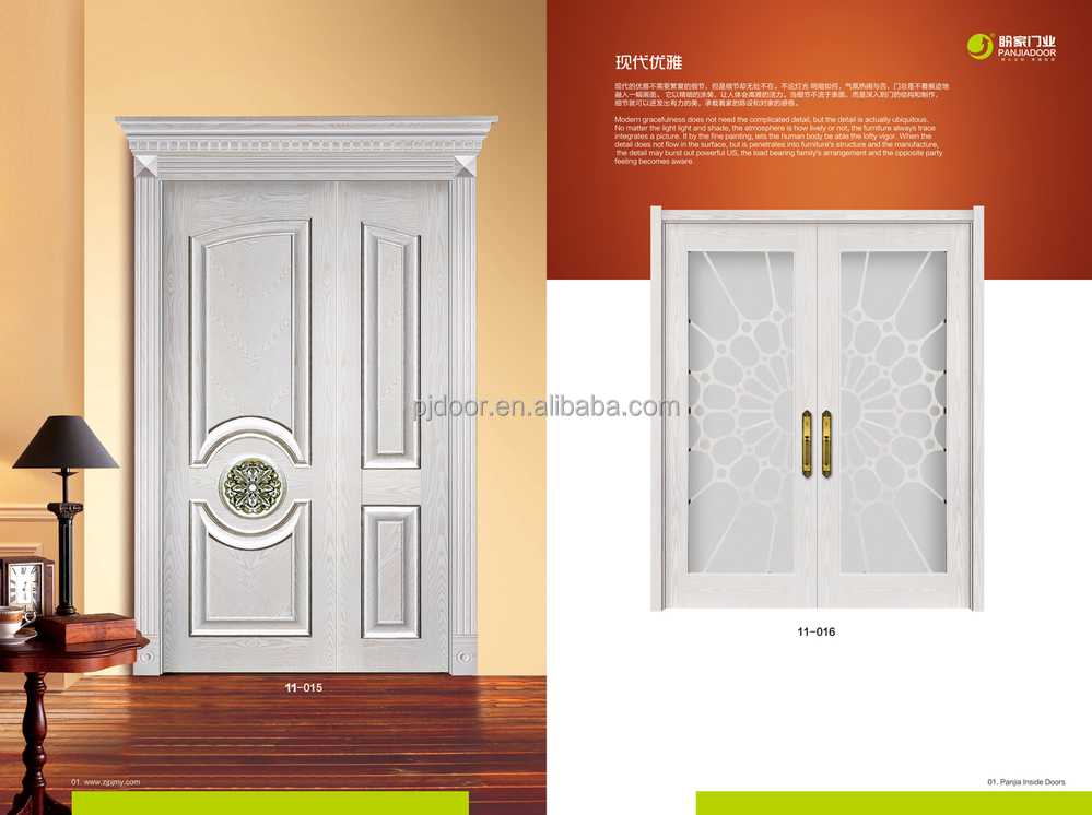 Hot Sale European Style Interior Front Kerala Double Door