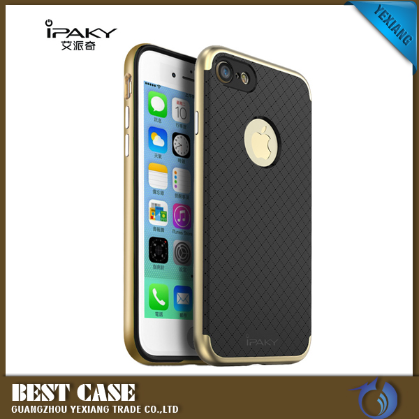 iPaky Hybrid Bumper TPU Soft Rubber Skin Back Case For Iphone 7 Case Back Cover