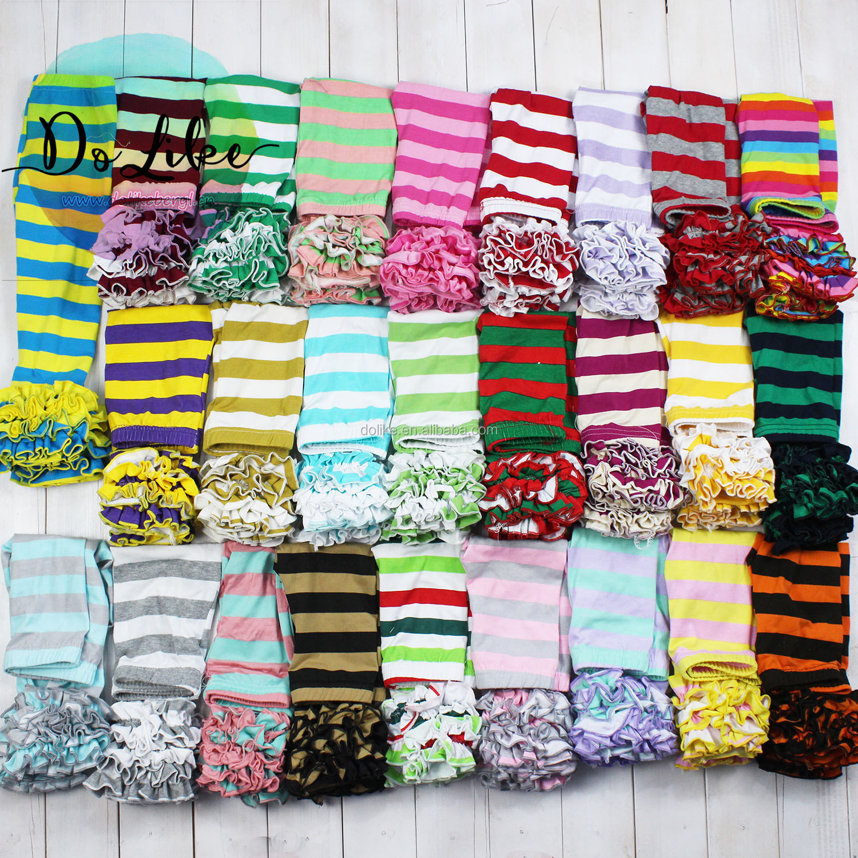 Children ruffle  leggings kids flare pants design cotton baby bell bottoms boutique