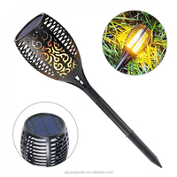 96 LED Solar Garden Landscape Lamp Solar Torch Light With Flickering Flame