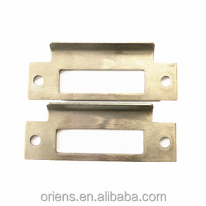 high quality polished metal door lock faceplate strike plate