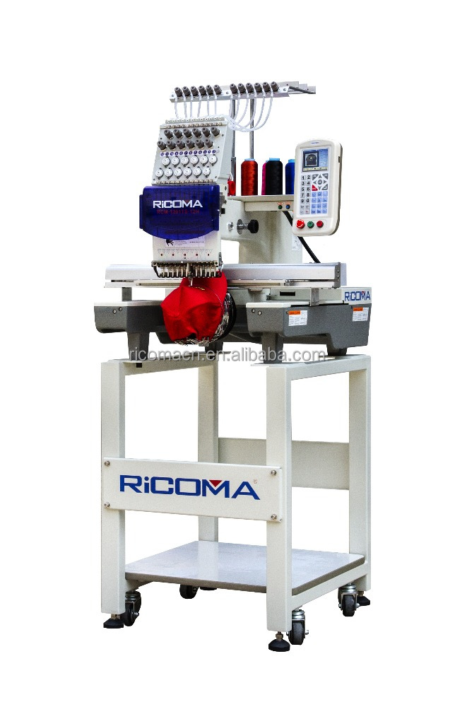 2017 Hot sale RiCOMA cheap single head embroidery machine price