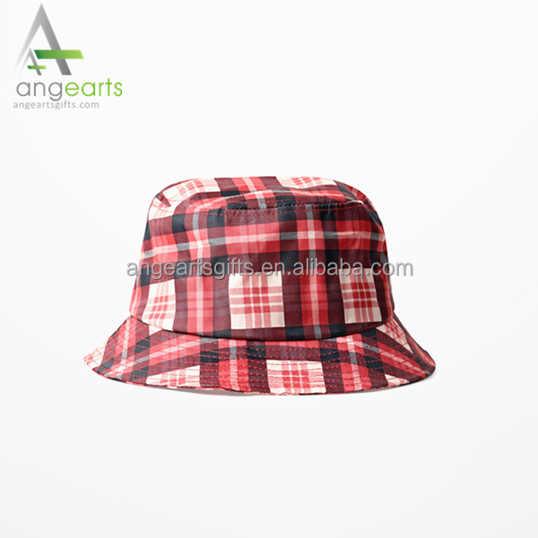 Check pattern bucket hat fisherman fishing hat sun hat for men and women