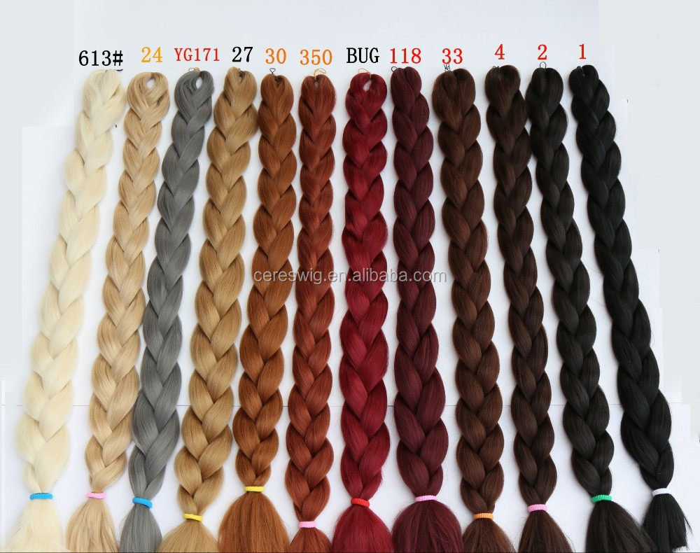 high quality fiber jambo braids xpression synthetic hair braids, synthetic hair for braids, synthetic hair from xuchang Ceres