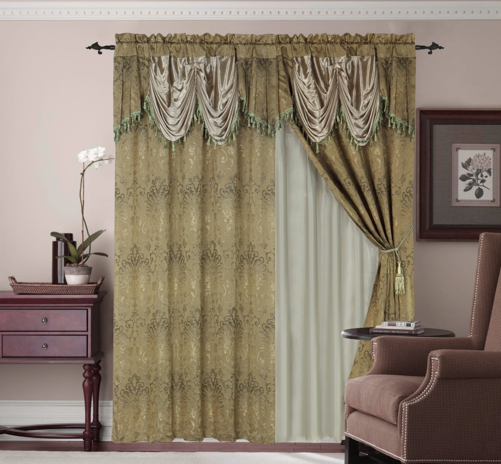 Black out curtains elegant valance curtains beaded valance curtains - Curtains With Attached Valance Curtains With Attached Valance Suppliers And Manufacturers At Alibaba Com