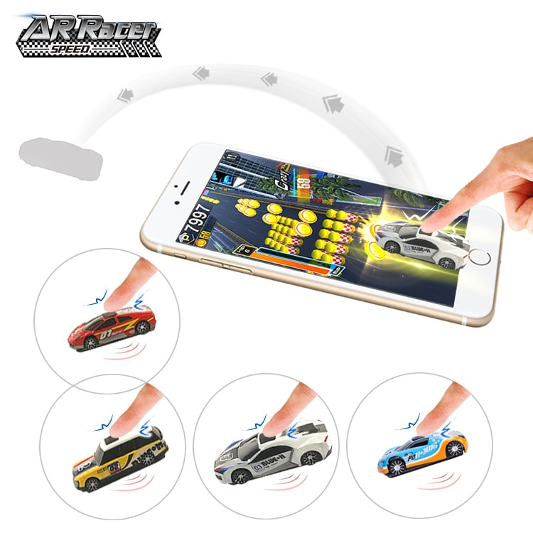 Miniature real high speed ar car racing electronic game