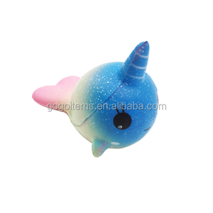 Best seller squishy animal toys squishy slow rising starry unicorn whale toys for gifts and deco.