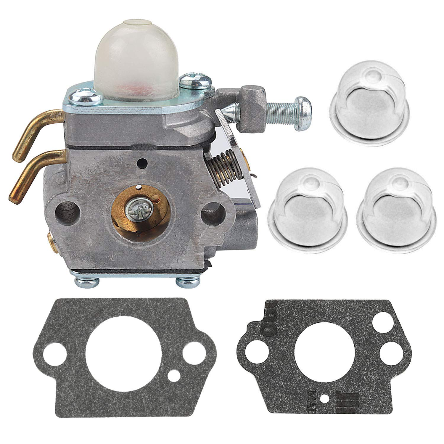 308054001 Carburetor with Gasket Primer Bulb for Homelite UT-08580 08981 50500 21506 21947 26cc Blower Trimmer Carb