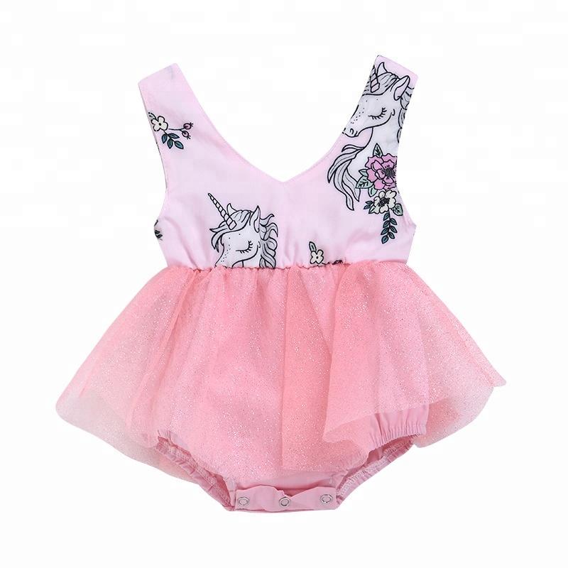 339b00887 Baby Girls Toddler Unicorn Tutu Dress One Piece Rompers Baby ...