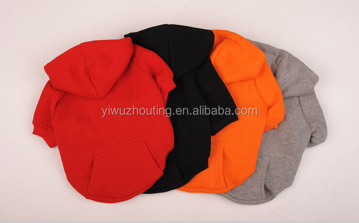 4 Colors Fashional Solid Soft Pet Garment Dog Fleece Hoodies