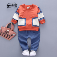 aile rabbit 2019 Children's suits fall new Korean patch sweater two-piece kids boy clothing set