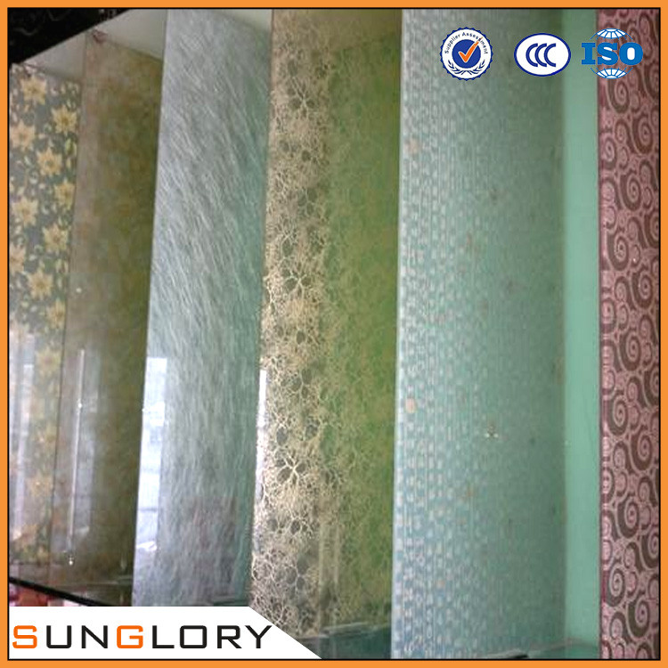 6 6mm tempered laminated texture glass decorative glass for Decorative tempered glass panels