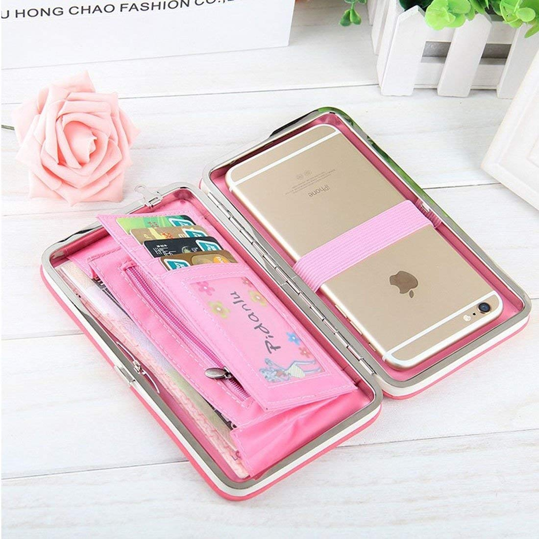 Multi-function High Heels Pattern Wallet Leather Case For Below 5.5 inch Smartphones with Card Slots & Photo Frame J.S.U-CC (Color : Pink light)