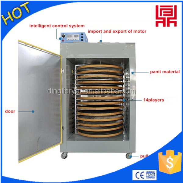 Hot air boxed dry fruit/vegetable machinery cashew nut drum dryer/chilli dry oven