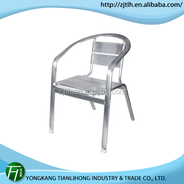 hot salling wood aluminum patio chair/outdoor aluminum dining chair