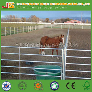High Quality and Low Price Galvanized Portable Australian Style Cattle Panel with 5 or 6 rails For Sale