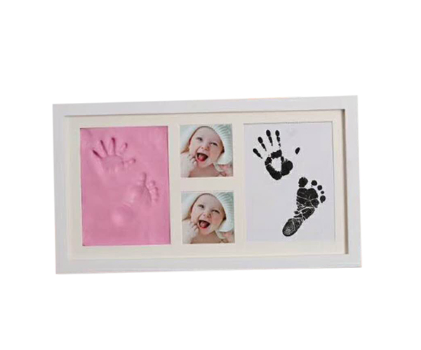 Baby souvenir Handprint footprint with clay and clean touch ink pad for boys and girls