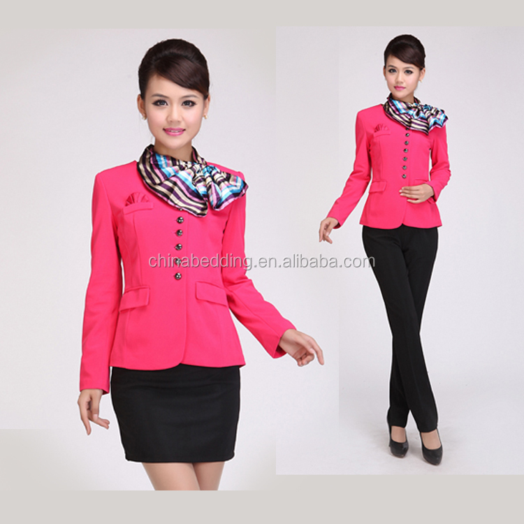 Guangzhou supply sample office staff uniform designs for for Office uniform design catalogue