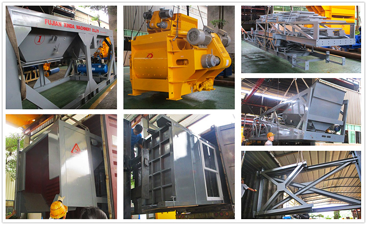 High Performance Concrete Mixing Station 3.8m Discharge