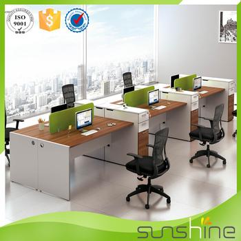 mobiliario moderno oficina moderna particin de escritorio para personas blanco y de la madera de