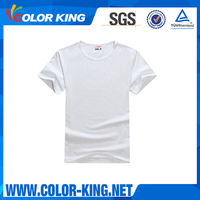 High Quality custom sublimation blank white t shirt below 1