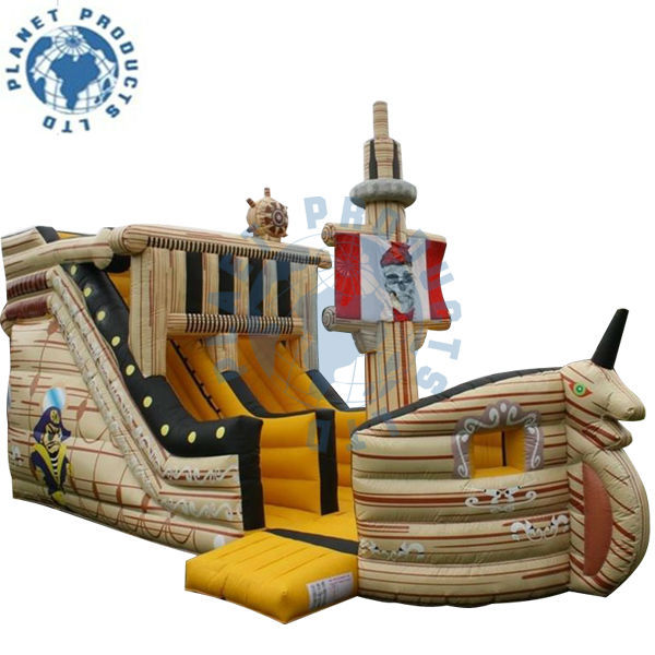Commercial Grade Pirate Ship Bouncy Castle (PLG20-139)