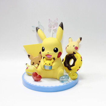 Cartoon Model Toy Statue Anime Character Pikachu Poly-resin Figurines 20 cm