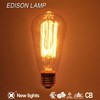 Home Decorative Manufactuer led filament ST64 Edison Bulb 40W Vintage Edison Light Bulb