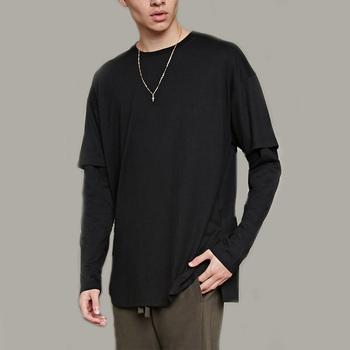 black long t shirt mens