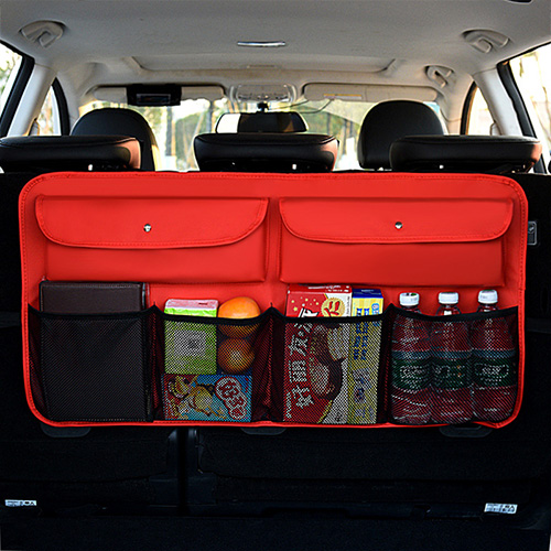 Сумка-Органайзер для багажника из искусственной кожи EAFC, универсальная сумка-Органайзер с несколькими карманами для автомобильного заднег...(Китай)