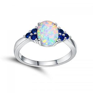 Wholesale Brass Finger Ring Opal with rhinestone new arrival 648790