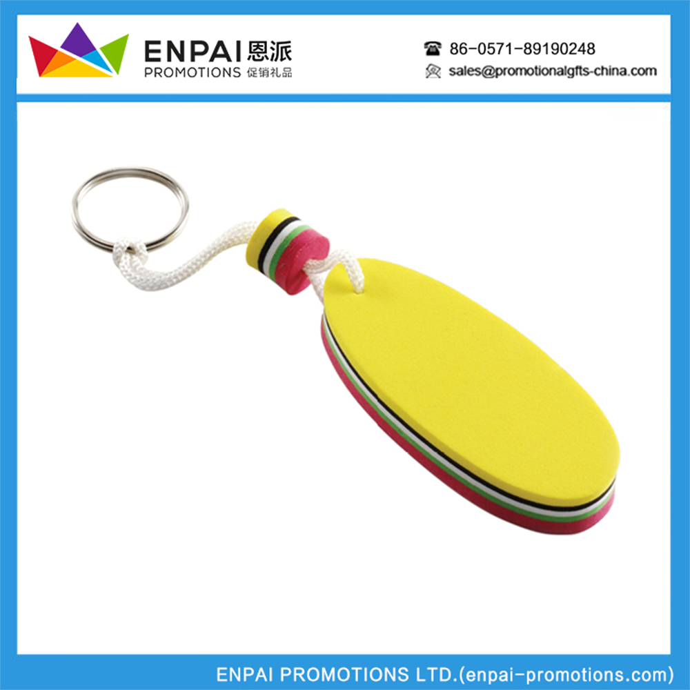Custom Logo advertising giveaway Float key chain
