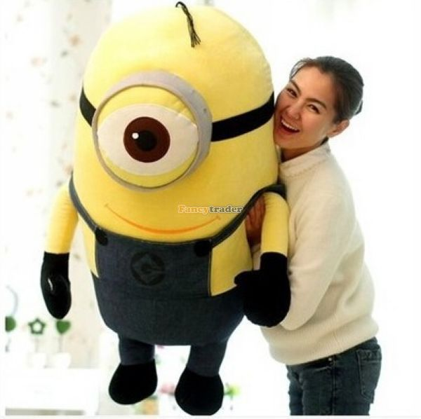Get Quotations Fancytrader 39 100cm Giant Plush Stuffed 3D Despicable Me Single Eye Minion Gift