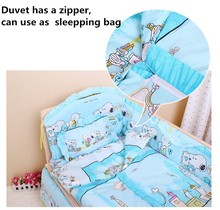 Promotion 10PCS Bedding Baby Cradle Crib Netting Bedding Set for Newborn Baby Products unpick bumpers matress