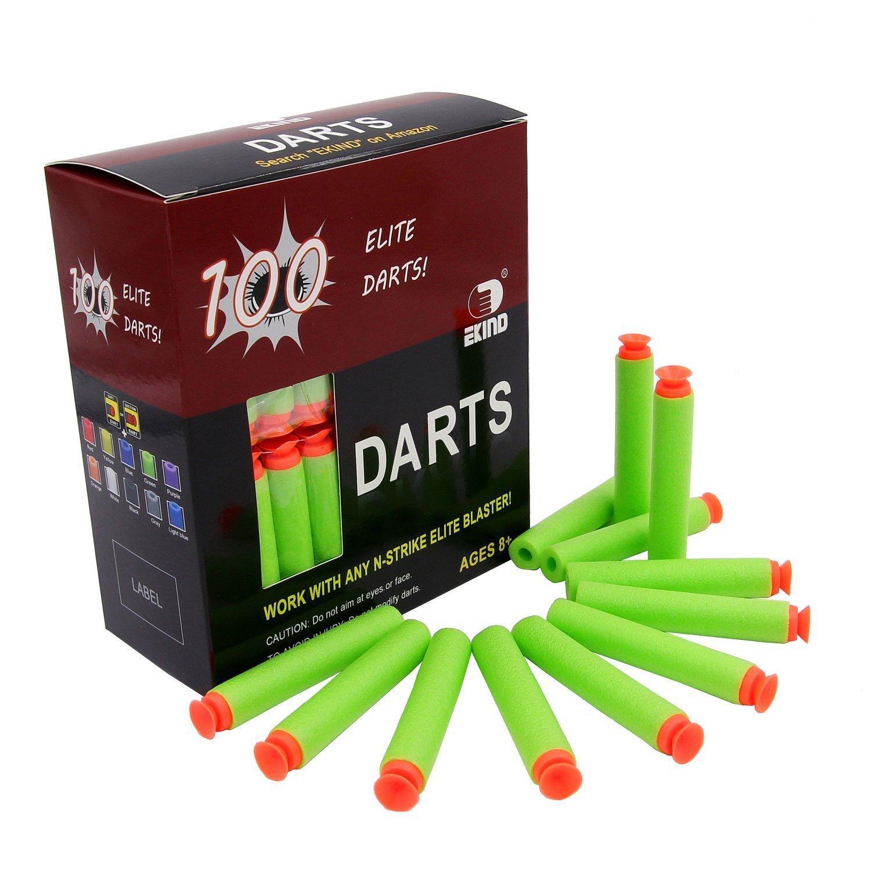 EKIND 100Pcs Suction Darts Refill Foam Bullet for Nerf N-strike Elite Guns